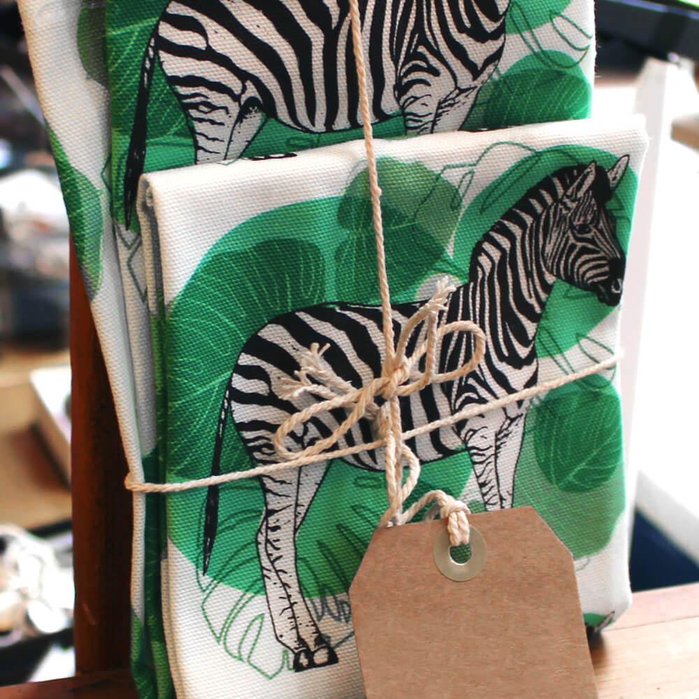 Zebra Tea Towels: Art & Craft Collective